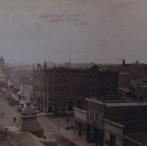 Image of Phillips Ave. (looking south from Merchants Hotel at 8th St.), 1886