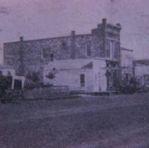 Image of R. F. Pettigrew's Office and Cataract Hotel on Phillips Ave., ca. pre-1884