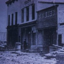 Image of Stores on Phillips Ave., ca. 1880-1885