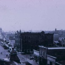 Image of Phillips Ave. (looking south from the Merchants Hotel at 8th St.), 1886