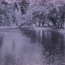 Image of Sherman Park scene from auto bridge, 1937