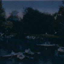 Image of Sherman Park boating scene, ca. 1913