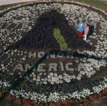 Image of Ft. Sod Park bicentennial flower garden, 1976