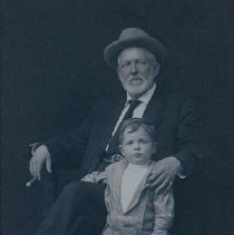 Image of Colonel Melvin Grigsby and unidentified child, n.d.