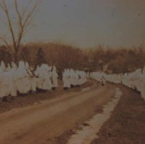 Image of Ku Klux Klan in Woodlawn Cemetery, ca. 1928