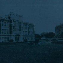 Image of Admin. Bldg., Mens and Ladies Halls, Old Main at Augustana, ca. 1927