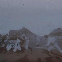 Image of Football game (possibly team of Irving High School, 11th and Spring), 1899