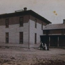 Image of Original building for the South Dakota School for the Deaf, ca. 1886