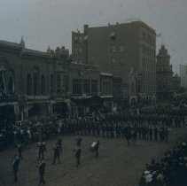 Image of Spanish-American War Volunteers (looking north on Phillips Ave.), 1898