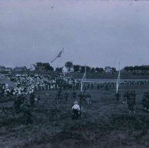 Image of South Dakota Cavalry at circus ground (12th and Cliff), 1917
