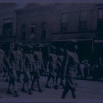 Image of World War I soldiers marching, n.d.