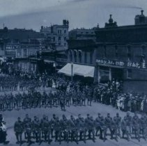 Image of Military parade on north Main Ave., May 21, 1919