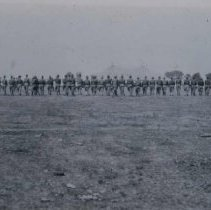 Image of Horseless cavalry west of Sioux Falls (Bauch farm near Sherman Park), n.d.