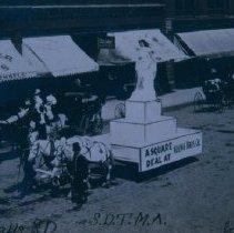 Image of First prize float at Traveling Men's Association Parade, June 27, 1908