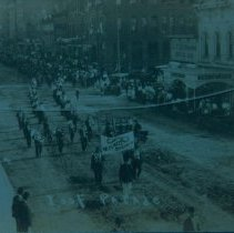 Image of Mitchell delegation at Int. Order of Odd Fellows Parade, 1908