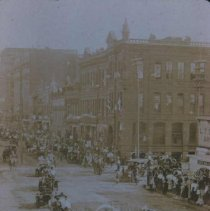 Image of Odd Fellows Parade on Phillips Avenue (looking south from 8th), ca. 1906