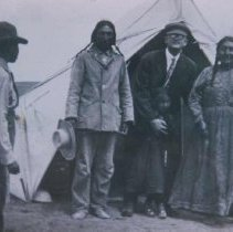 Image of Native American visitors to Scotty Phillips Ranch near Fort Pierre, n.d.