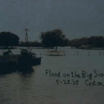 Image of Flood on the Big Sioux River in Canton, SD, May 28, 1908