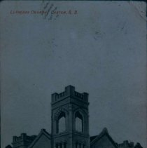 Image of Sketch of a Lutheran church in Canton, SD, ca. 1907-1909