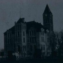 Image of Lincoln County Courthouse in Canton, SD, ca. 1907-1909