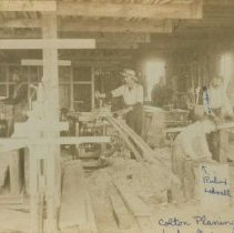 Image of Workers inside Colton Planing Mill in Colton, SD, n.d.