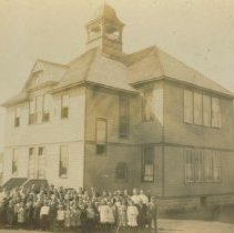 Image of Students outside third school house building in Colton, SD, ca. 1906-1924