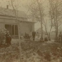 Image of George Goddard family at home (three miles west of Colton, SD), ca. 1890s