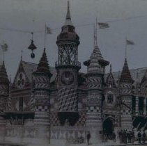 Image of Corn Palace in Mitchell, SD, 1900