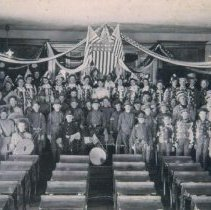 Image of Eighth grade class cantata in Mitchell, SD, 1903