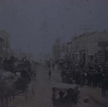 Image of Street scene (Corn Palace in background) in Mitchell, SD, n.d.