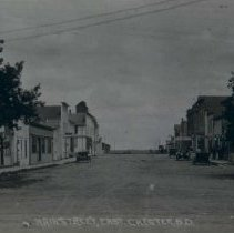 Image of Main Street (possibly looking east) in Chester, SD, n.d.