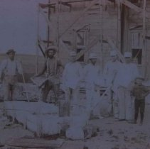 Image of Group in front of Philleo House in Waubay, SD, n.d.