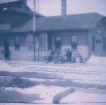 Image of Railroad depot in Waubay, SD, n.d.