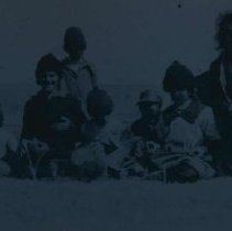 Image of Group at Coyote School near White Owl, SD, 1918
