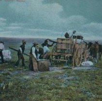 "Image of Loading the ""chuck"" wagon, ca. 1909"
