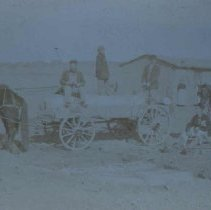 Image of Homesteaders and sod house, n.d.