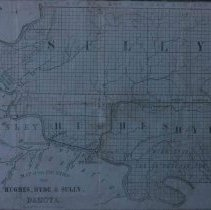 Image of Land map for Hughs, Hyde, and Sully Counties, ca. 1880s