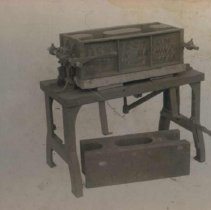 Image of Perfection block machine designed by Wallace L. Dow, n.d.