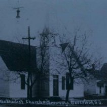 Image of Methodist church and parsonage in Beresford, SD, 1911