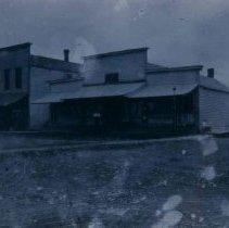 Image of Frank Gillen in front of Frank Gillen Store in Hartford, SD, ca. 1900