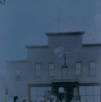 Image of People outside the Opera House in Hartford, SD, ca. 1900