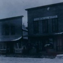 Image of Commercial Hotel (Commercial House) in Hartford, SD, ca. 1900