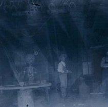 Image of Interior of the blacksmith shop in Hartford, SD, ca. 1900