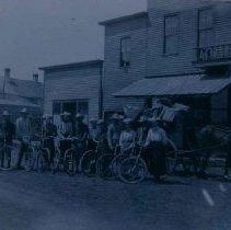 Image of Hartford, SD, Sunday School starting for camp at Lake Madison, ca. 1900