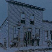 Image of Mott Hotel and Restaurant in Hartford, SD, ca. 1900