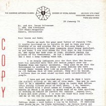 Image of Letter - Letter, Dr. Paul A. Boe to Dr. Loren and Ruth Halvorson, January 29, 1974