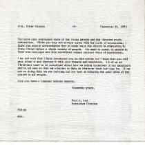 Image of Letter, Paul A. Boe to Mrs. Elmer Hanson, December 26, 1973, p. 2