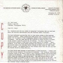 Image of Letter, Paul A. Boe to Jake Horst, December 26, 1973, p. 1