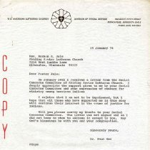 Image of Letter, Paul A. Boe to Norman R. Jole, January 29, 1974, p. 1