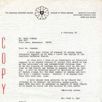Image of Letter - Letter, Dr. Paul A. Boe to Mr. Neil Ramsey, February 4, 1974
